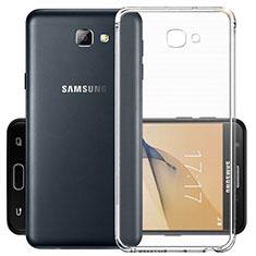 Samsung Galaxy J7 Prime用極薄ソフトケース シリコンケース 耐衝撃 全面保護 クリア透明 サムスン クリア