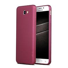 Samsung Galaxy J7 Prime用極薄ソフトケース シリコンケース 耐衝撃 全面保護 S03 サムスン パープル