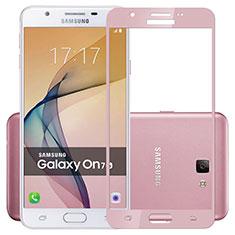Samsung Galaxy J7 Prime用強化ガラス フル液晶保護フィルム サムスン ピンク