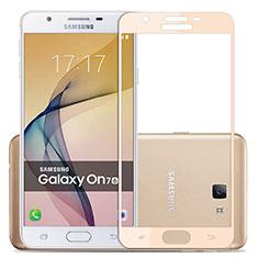 Samsung Galaxy J7 Prime用強化ガラス フル液晶保護フィルム サムスン ゴールド