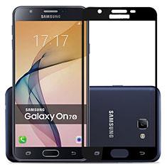 Samsung Galaxy J7 Prime用強化ガラス フル液晶保護フィルム サムスン ブラック