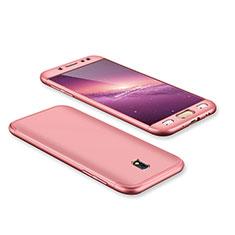 Samsung Galaxy J7 Pro用ハードケース プラスチック 質感もマット 前面と背面 360度 フルカバー サムスン ローズゴールド