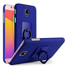 Samsung Galaxy J7 Pro用ハードケース カバー プラスチック アンド指輪 サムスン ネイビー