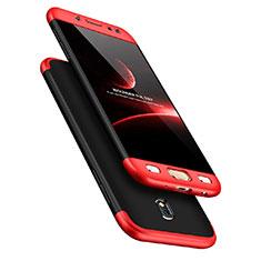 Samsung Galaxy J7 Pro用ハードケース プラスチック 質感もマット 前面と背面 360度 フルカバー サムスン レッド・ブラック