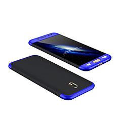 Samsung Galaxy J7 Pro用ハードケース プラスチック 質感もマット 前面と背面 360度 フルカバー サムスン ネイビー・ブラック