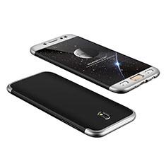 Samsung Galaxy J7 Pro用ハードケース プラスチック 質感もマット 前面と背面 360度 フルカバー サムスン シルバー