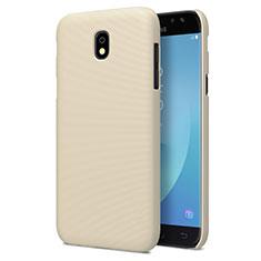 Samsung Galaxy J7 Pro用ハードケース プラスチック 質感もマット サムスン ゴールド