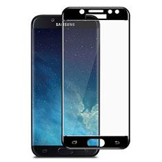 Samsung Galaxy J7 Pro用強化ガラス フル液晶保護フィルム サムスン ブラック