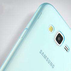Samsung Galaxy J7 SM-J700F J700H用極薄ソフトケース シリコンケース 耐衝撃 全面保護 クリア透明 サムスン ネイビー
