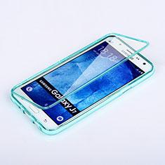 Samsung Galaxy J7 SM-J700F J700H用ソフトケース フルカバー クリア透明 サムスン ブルー