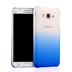 Samsung Galaxy J7 SM-J700F J700H用ハードケース グラデーション 勾配色 クリア透明 サムスン ネイビー