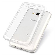 Samsung Galaxy J7 SM-J700F J700H用極薄ソフトケース シリコンケース 耐衝撃 全面保護 クリア透明 T02 サムスン クリア