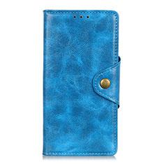 Samsung Galaxy M21s用手帳型 レザーケース スタンド カバー L03 サムスン ブルー