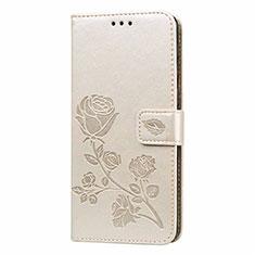 Samsung Galaxy M21s用手帳型 レザーケース スタンド カバー L05 サムスン ゴールド