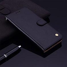 Samsung Galaxy M21s用手帳型 レザーケース スタンド カバー L06 サムスン ブラック