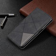 Samsung Galaxy M21s用手帳型 レザーケース スタンド カバー L07 サムスン ブラック