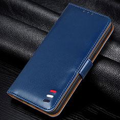 Samsung Galaxy M21s用手帳型 レザーケース スタンド カバー L12 サムスン ネイビー