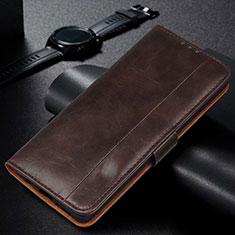 Samsung Galaxy M21s用手帳型 レザーケース スタンド カバー L14 サムスン ブラウン