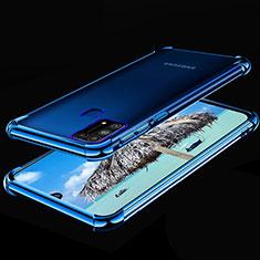 Samsung Galaxy M21s用極薄ソフトケース シリコンケース 耐衝撃 全面保護 クリア透明 H01 サムスン ネイビー