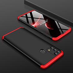 Samsung Galaxy M21s用ハードケース プラスチック 質感もマット 前面と背面 360度 フルカバー サムスン レッド・ブラック