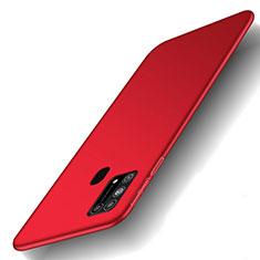 Samsung Galaxy M21s用ハードケース プラスチック 質感もマット カバー M01 サムスン レッド