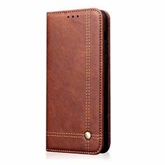 Samsung Galaxy M31 Prime Edition用手帳型 レザーケース スタンド カバー サムスン ブラウン