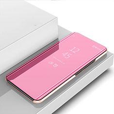 Samsung Galaxy M31 Prime Edition用手帳型 レザーケース スタンド 鏡面 カバー サムスン ローズゴールド