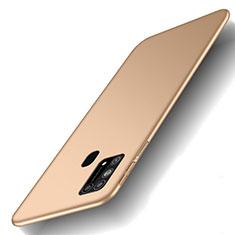 Samsung Galaxy M31 Prime Edition用ハードケース プラスチック 質感もマット カバー M01 サムスン ゴールド