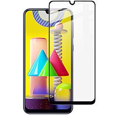Samsung Galaxy M31 Prime Edition用強化ガラス フル液晶保護フィルム サムスン ブラック