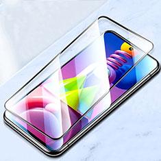 Samsung Galaxy M51用強化ガラス フル液晶保護フィルム サムスン ブラック