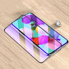 Samsung Galaxy M51用強化ガラス フル液晶保護フィルム アンチグレア ブルーライト サムスン ブラック