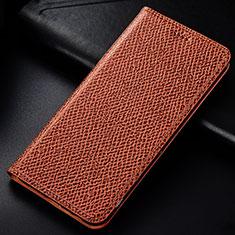 Samsung Galaxy M60s用手帳型 レザーケース スタンド カバー L01 サムスン ブラウン