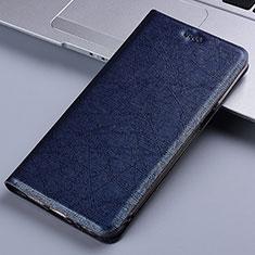 Samsung Galaxy M60s用手帳型 レザーケース スタンド カバー L02 サムスン ネイビー