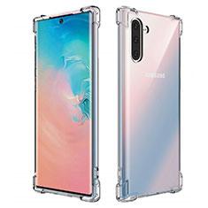 Samsung Galaxy Note 10 5G用極薄ソフトケース シリコンケース 耐衝撃 全面保護 クリア透明 K01 サムスン クリア