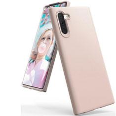 Samsung Galaxy Note 10 5G用360度 フルカバー極薄ソフトケース シリコンケース 耐衝撃 全面保護 バンパー C08 サムスン ローズゴールド