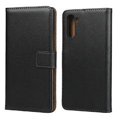 Samsung Galaxy Note 10 5G用手帳型 レザーケース スタンド サムスン ブラック