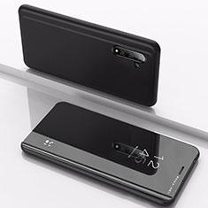 Samsung Galaxy Note 10 5G用手帳型 レザーケース スタンド 鏡面 カバー サムスン ブラック