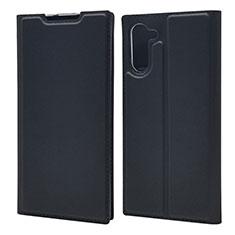 Samsung Galaxy Note 10 5G用手帳型 レザーケース スタンド カバー L01 サムスン ブラック