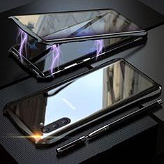 Samsung Galaxy Note 10 5G用ケース 高級感 手触り良い アルミメタル 製の金属製 360度 フルカバーバンパー 鏡面 カバー サムスン ブラック