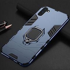 Samsung Galaxy Note 10 5G用ハイブリットバンパーケース スタンド プラスチック 兼シリコーン カバー マグネット式 サムスン ネイビー