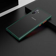 Samsung Galaxy Note 10 5G用ハイブリットバンパーケース プラスチック 兼シリコーン カバー U04 サムスン グリーン