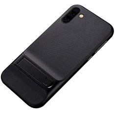 Samsung Galaxy Note 10 5G用ハイブリットバンパーケース スタンド プラスチック 兼シリコーン カバー サムスン ブラック
