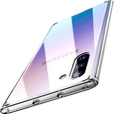 Samsung Galaxy Note 10 5G用ハイブリットバンパーケース クリア透明 プラスチック 鏡面 カバー M03 サムスン クリア