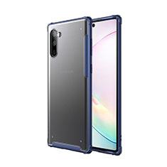 Samsung Galaxy Note 10 5G用ハイブリットバンパーケース プラスチック 兼シリコーン カバー サムスン ネイビー