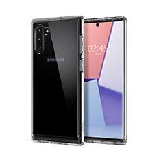 Samsung Galaxy Note 10 5G用極薄ソフトケース シリコンケース 耐衝撃 全面保護 クリア透明 T02 サムスン クリア