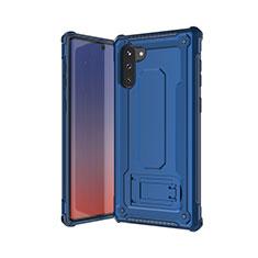 Samsung Galaxy Note 10 5G用ハイブリットバンパーケース プラスチック 兼シリコーン カバー U01 サムスン ネイビー