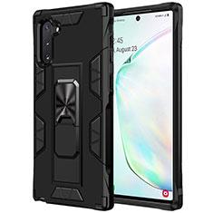 Samsung Galaxy Note 10 5G用ハイブリットバンパーケース プラスチック 兼シリコーン カバー U02 サムスン ブラック