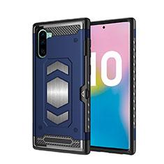 Samsung Galaxy Note 10 5G用ハイブリットバンパーケース プラスチック 兼シリコーン カバー マグネット式 サムスン ネイビー