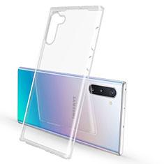 Samsung Galaxy Note 10用極薄ソフトケース シリコンケース 耐衝撃 全面保護 クリア透明 K02 サムスン クリア