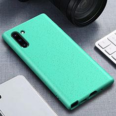 Samsung Galaxy Note 10用360度 フルカバー極薄ソフトケース シリコンケース 耐衝撃 全面保護 バンパー サムスン シアン